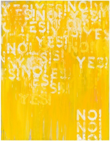 Mel Bochner, Yes! No!, 2016 , Peter Freeman, Inc.