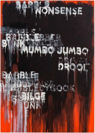 Mel Bochner, Babble, 2015 , Peter Freeman, Inc.
