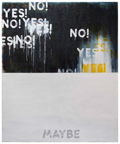 Mel Bochner, Yes!/No! Maybe, 2016 , Peter Freeman, Inc.