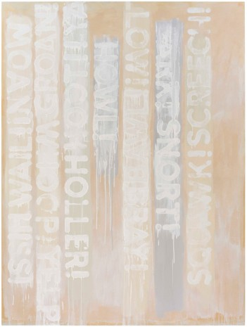 Mel Bochner, White Noise, 2016 , Peter Freeman, Inc.