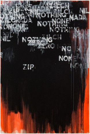 Mel Bochner, Zip, 2015 , Peter Freeman, Inc.