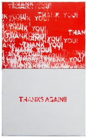 Mel Bochner, Thanks Again!!, 2017 , Peter Freeman, Inc.