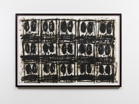 Rashid Johnson, Untitled Anxious Drawing,, 2017, Hauser & Wirth Somerset