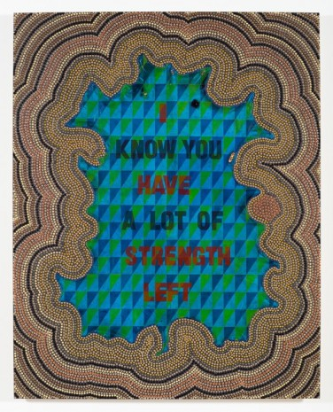 Jeffrey Gibson, I HAVE STRENGTH LEFT, 2017, Lehmann Maupin