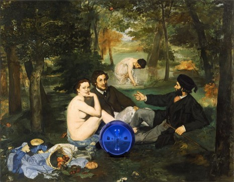 Jeff Koons, Gazing Ball (Manet Luncheon on the Grass), 2014–15, Gagosian