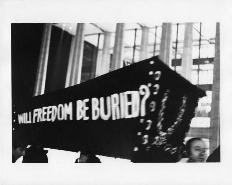 Peter Moore, [March for Freedom of Expression, New York, Coffin], 1964, Paula Cooper Gallery