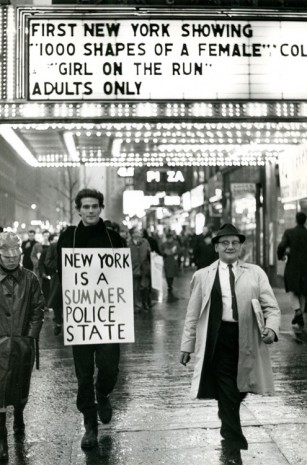 Peter Moore, March for Freedom of Expression, New York, Alan Marlowe with sign, 1964, Paula Cooper Gallery