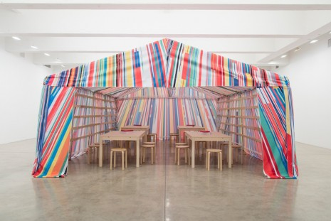 Meschac Gaba, Reflection Room Tent, 2016, Tanya Bonakdar Gallery
