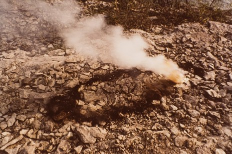 Ana Mendieta, Untitled: Gunpowder Silueta Series (Rocks and Explosion), 1978, Alison Jacques Gallery