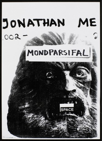 Jonathan Meese, Untitled,(Mondparsifal-book Harpune-Publisher's), 2017, Galerie Krinzinger