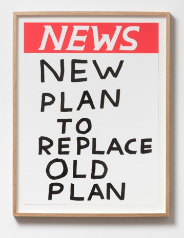 David Shrigley, Untitled (New plan to replace the old plan), 2017, Galleri Nicolai Wallner