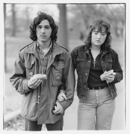 Diane Arbus, A young man and his girlfriend with hot dogs in the park, N.Y.C. 1971, , Lévy Gorvy