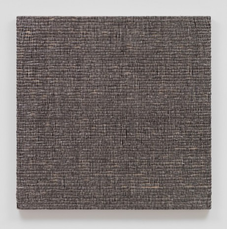 Analia Saban, Woven Solid as Weft, Square (Black) #1, 2017 , Sprüth Magers