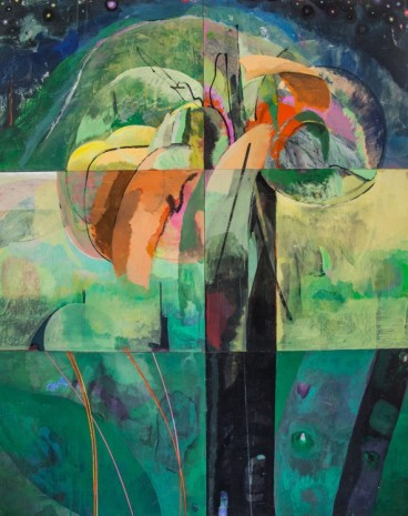 Che Lovelace, Composition in yellow and green, 2016, galerie hussenot