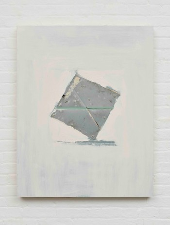 Erik Lindman, Untitled (Grey Square), 2017, Almine Rech Gallery