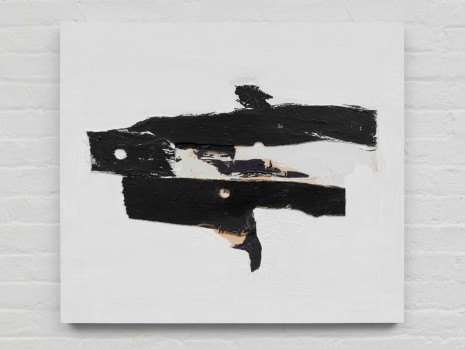 Erik Lindman, Untitled (Black and White Wood), 2016 - 2017, Almine Rech Gallery