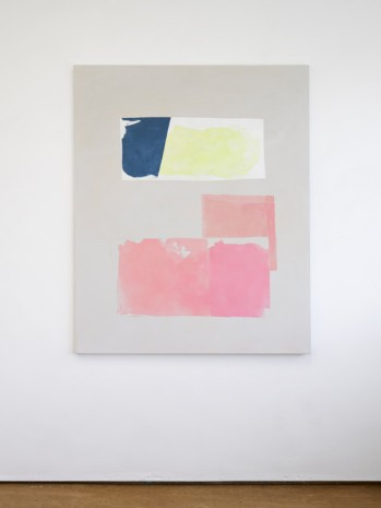Peter Joseph, Dark Blue, Lemon and Pink, 2017, Lisson Gallery