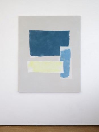 Peter Joseph, Dark Blue, Light Blue and Lemon, 2017, Lisson Gallery