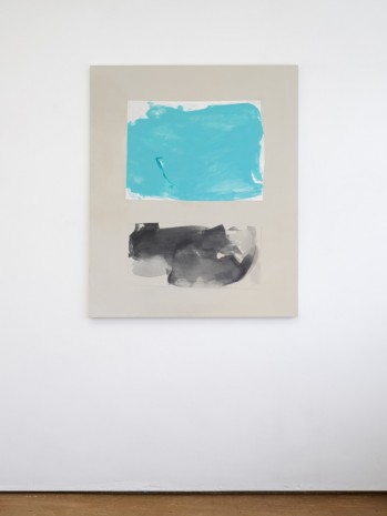Peter Joseph, Turquoise and Black 2nd Version, 2015, Lisson Gallery