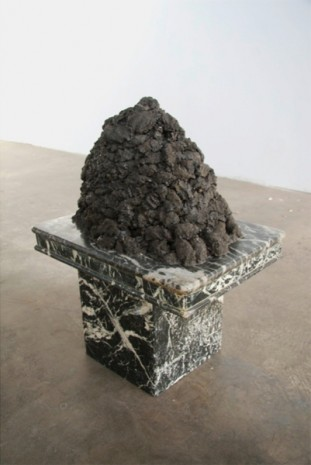 Patrick Jackson, Dirt Pile on Table (marble), 2011, Ghebaly Gallery