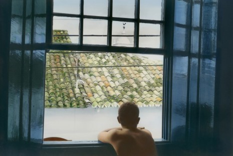 Youssef Nabil, Self portrait looking out of the window, Paraty, 2005 , Galerie Nathalie Obadia