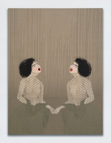 Hayv Kahraman, T25 and T26, 2017, White Cube