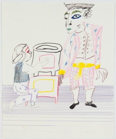Sofi Brazzeal, Untitled (two figures and a stove), 2016 , Martos Gallery