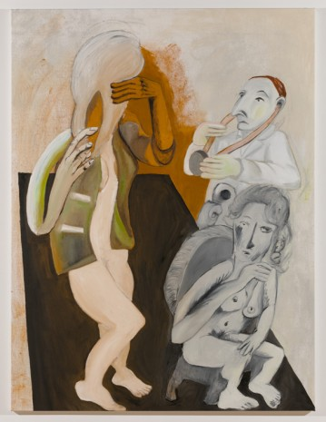Sofi Brazzeal, Untitled (doctor, seated woman and woman with hairbrush 1), 2016, Martos Gallery