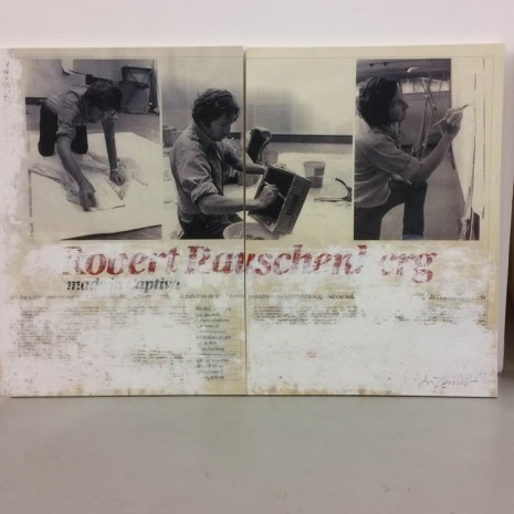 Joao Felino, Robert Rauschenberg, from the series newspaper painting (diptych), 2007, Cristina Guerra Contemporary Art
