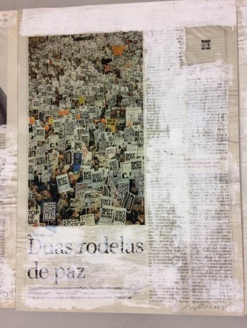 Joao Felino, Not In My Name, from the series newspaper painting, 2003, Cristina Guerra Contemporary Art