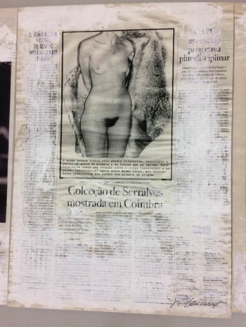 Joao Felino, Julião Sarmento de 1975, from the series newspaper painting, 2003, Cristina Guerra Contemporary Art