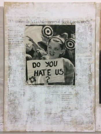 Joao Felino, Do You Hate Us?, from the series newspaper painting,  1999, Cristina Guerra Contemporary Art