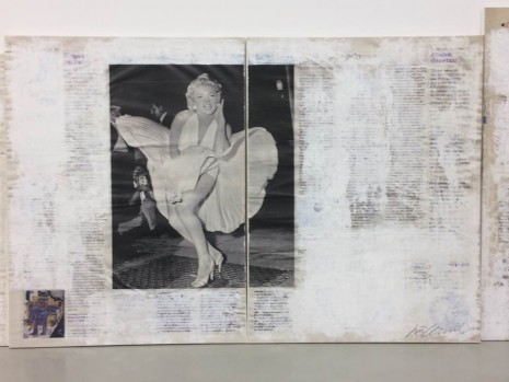 Joao Felino, Marilyn Monroe, from the series newspaper painting (diptych), 2010 , Cristina Guerra Contemporary Art
