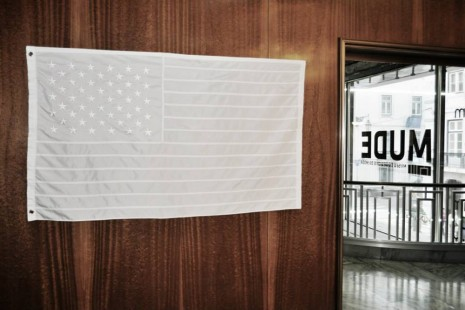 Joao Felino, USA Flag in MUDE, 2014, Cristina Guerra Contemporary Art