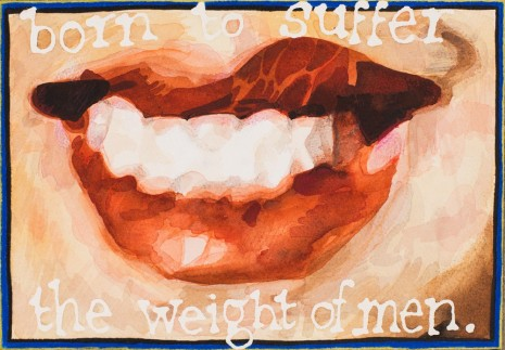 Jade Montserrat, Born to suffer the weight of men, 2015 , Alison Jacques Gallery