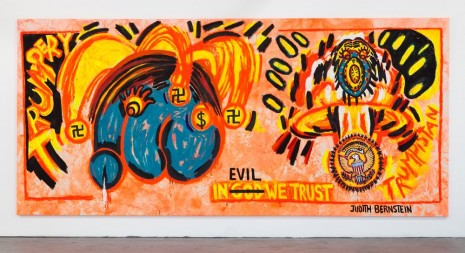 Judith Bernstein, In Evil We Trust, 2017, Venus Over Manhattan