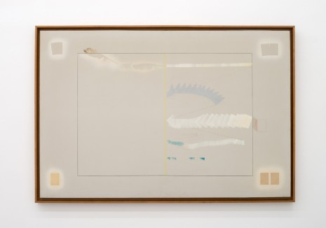 Shusaku Arakawa, Card into Feather, 1963-64 , Galleria Massimo Minini