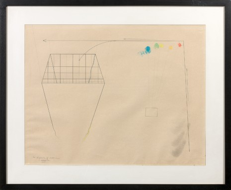 Shusaku Arakawa, The Diagram of Bottomless, 1965 , Galleria Massimo Minini