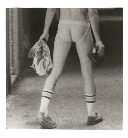 Alvin Baltrop, The Piers (man wearing jockstrap, holding shorts, walking), n.d. (1975-1986), Galerie Buchholz