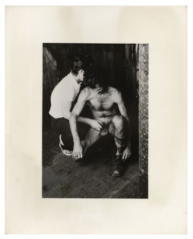 Alvin Baltrop, The Piers (two men squatting, handjob), n.d. (1975-1986) , Galerie Buchholz