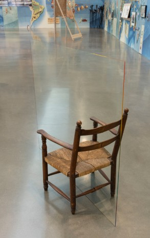 Ben Rivera, Chair with glass, 2017 , Regen Projects
