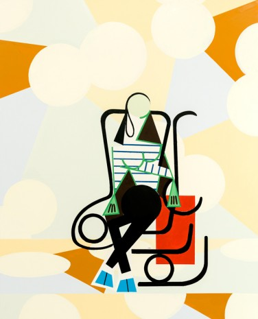 Farah Atassi, Woman in Rocking Chair, 2017, Ghebaly Gallery