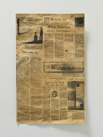 Fiona Connor, Broadsheet featuring Anne Truitt in the News American, 1975,  #1, 2017, 1301PE