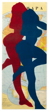 Stano Filko, Map of the World (Woman), 1967, The Mayor Gallery