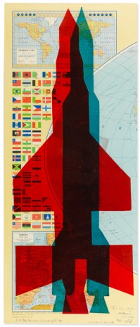 Stano Filko, Map of the World (Rockets), 1967 , The Mayor Gallery