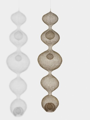 Ruth Asawa, Untitled (S.407, Hanging, Five-Lobed, Continuous Form within a Form with Two Spheres), c. 1952 , David Zwirner