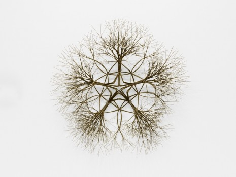 Ruth Asawa, Untitled (S.070, Wall-Mounted Tied Wire, Open-Center, Five-Branched Form Based on Nature), 1988, David Zwirner