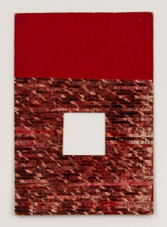 Ray Johnson, Untitled (Moticos with Red Ground), 1958 , David Zwirner