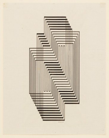 Josef Albers, Study for Graphic Tectonic (Ascension), 1941 , David Zwirner