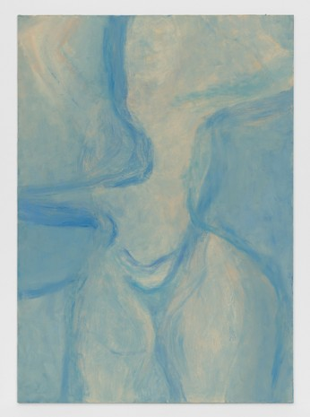 Rita Ackermann, Nude Turning Air Blue II, 2017 , Hauser & Wirth Somerset